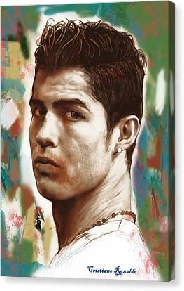 Cristiano Ronaldo Stylised Pop Art Drawing Potrait Poster Canvas Print by Kim Wang