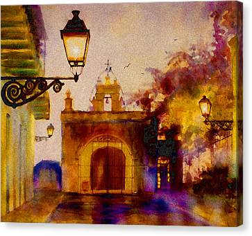 Cristo Chapel San Juan Canvas Print by Estela Robles