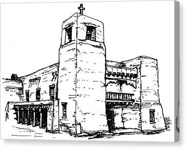 Cristo Rey Church Canvas Print by Del Gaizo