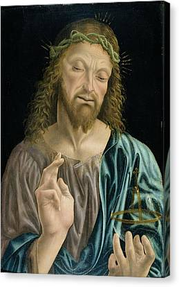 Cristo Salvator Mundi, C.1490-94 Canvas Print by Master of the Pala Sforzesca