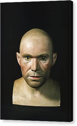 Cro-magnon Man Reconstructed Head Canvas Print by Science Photo Library