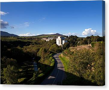 Croaghaun Hill And Flahavans Mills Canvas Print by Panoramic Images