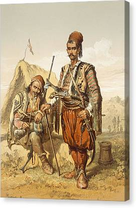 Croatian Guards, 1865 Canvas Print by Amadeo Preziosi