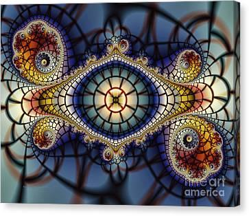 Crochet Work-geometric Abstraction Canvas Print by Karin Kuhlmann