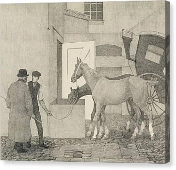 Crocks Canvas Print by Robert Polhill Bevan