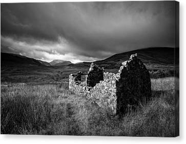 Crofters Cottage Ruin Canvas Print by Dave Bowman