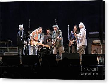 Crosby Stills Nash And Young Canvas Print by Front Row  Photographs