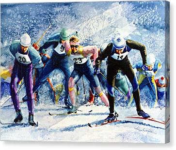 Cross-country Challenge Canvas Print by Hanne Lore Koehler