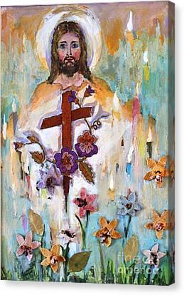 Cross Of Christ Canvas Print by Mary Spyridon Thompson