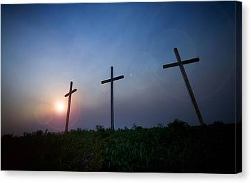 Crosses Three Canvas Print by Jeff Klingler