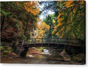 Crossing Over Canvas Print by Mark Papke