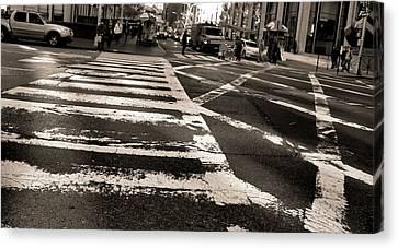 Crosswalk In New York City Canvas Print by Dan Sproul