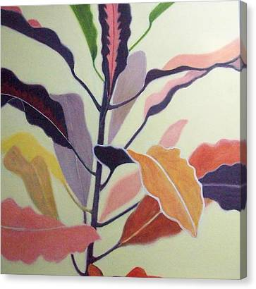 Croton Canvas Print by Mary Adam
