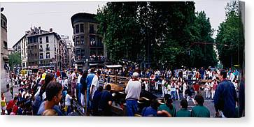 Crowd At Festival Of San Fermin Canvas Print by Panoramic Images