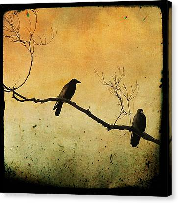 Crowded Branch Canvas Print by Gothicolors Donna Snyder