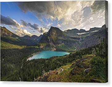 Crown Of The Continent Canvas Print by Joseph Rossbach