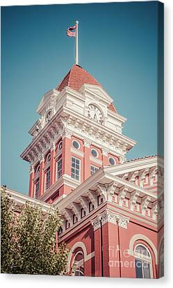 Crown Point Courthouse Retro Photo Canvas Print by Paul Velgos