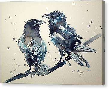 Crows Canvas Print by Kovacs Anna Brigitta