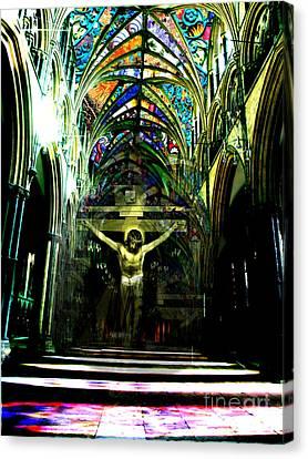 Crucifix Reflexions Canvas Print by Karine Percheron-Daniels
