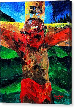Crucifixion   It Is Finished Canvas Print by Patricia Brintle