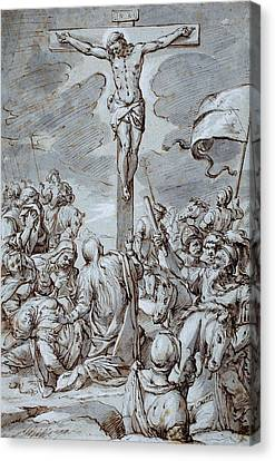 Crucifixion Canvas Print by Johann or Hans von Aachen