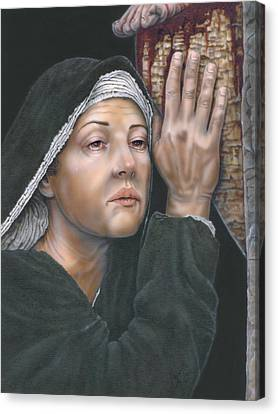 Crucifixion- Mothers Pain Canvas Print by Wayne Pruse