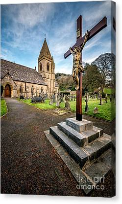Crucifixion Of Jesus Canvas Print by Adrian Evans