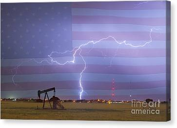 Crude Oil And Natural Gas Striking Across America Canvas Print by James BO  Insogna
