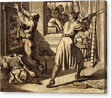 Cruel Chinese Punishment With Bound Canvas Print by Dutch School