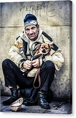 Cruel Street Life Canvas Print by Stwayne Keubrick