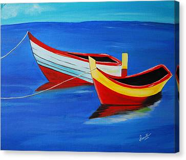 Cruising On A Bright Sunny Day Canvas Print by Sonali Kukreja