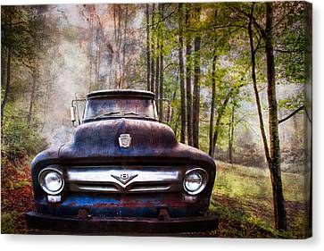 Cruising The Back Roads Canvas Print by Debra and Dave Vanderlaan