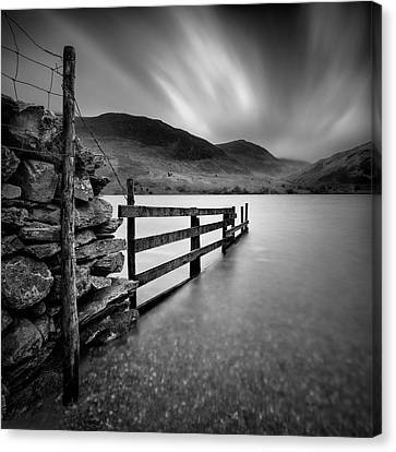Crummock Water Canvas Print by Dave Bowman