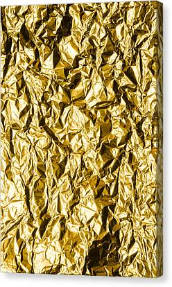 Crumpled Gold Foil Canvas Print by Alain De Maximy