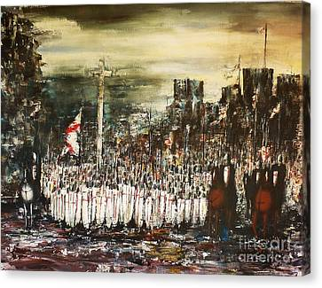 Crusade Canvas Print by Kaye Miller-Dewing