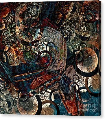 Crushed Spirals Canvas Print by Klara Acel