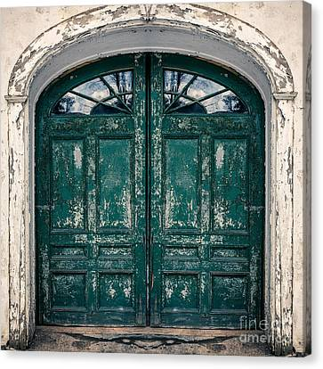 Behind The Green Door Canvas Print by Edward Fielding