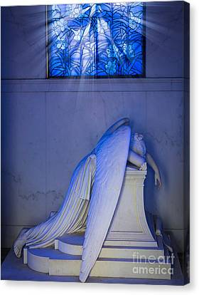 Crying Angel Canvas Print by Inge Johnsson