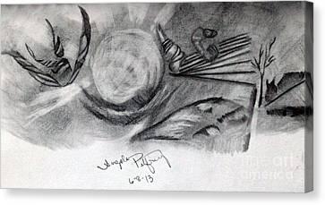 Crystal Ball Canvas Print by Angela Pelfrey