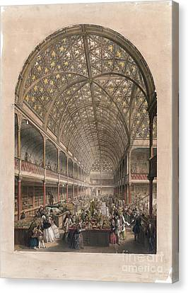 Crystal Palace Bazaar, London, 1850s Canvas Print by Library Of Congress