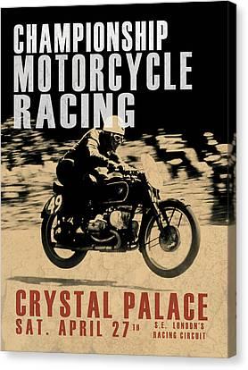 Crystal Palace Motorcycle Racing Canvas Print by Mark Rogan