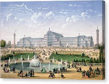 Crystal Palace, Sydenham, C.1862 Canvas Print by Achille-Louis Martinet