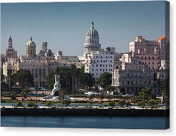 Cuba, Havana, Elevated City View Canvas Print by Walter Bibikow