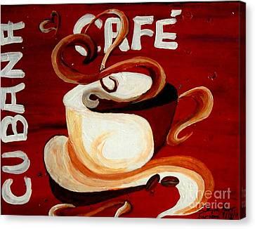 Cubana Cafe Canvas Print by Jayne Kerr
