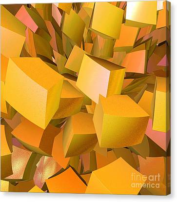 Cubist Melon Burst By Jammer Canvas Print by First Star Art
