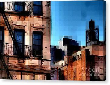 Up On The Roof Canvas Print by Miriam Danar