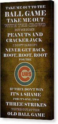 Cubs Peanuts And Cracker Jack  Canvas Print by Movie Poster Prints