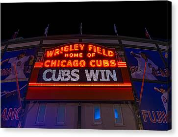 Cubs Win Canvas Print by Steve Gadomski