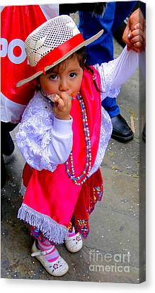 Cuenca Kids 242 Canvas Print by Al Bourassa