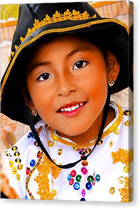 Cuenca Kids 496 Canvas Print by Al Bourassa